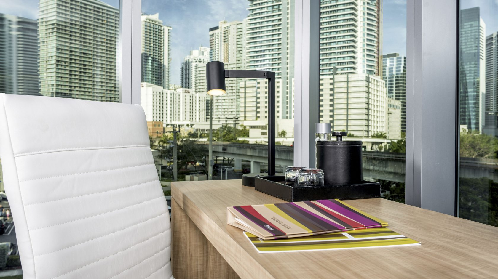 guest room work desk at Atton Brickell Miami