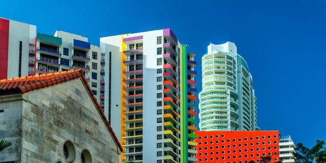 colorful miami buildings