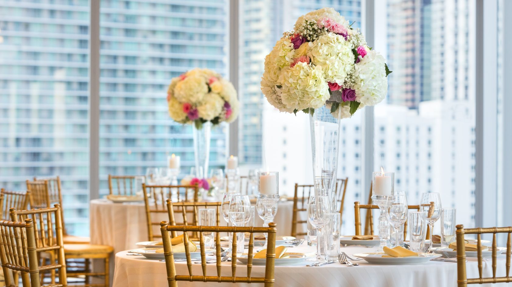 wedding banquet at Atton Brickell Miami hotel