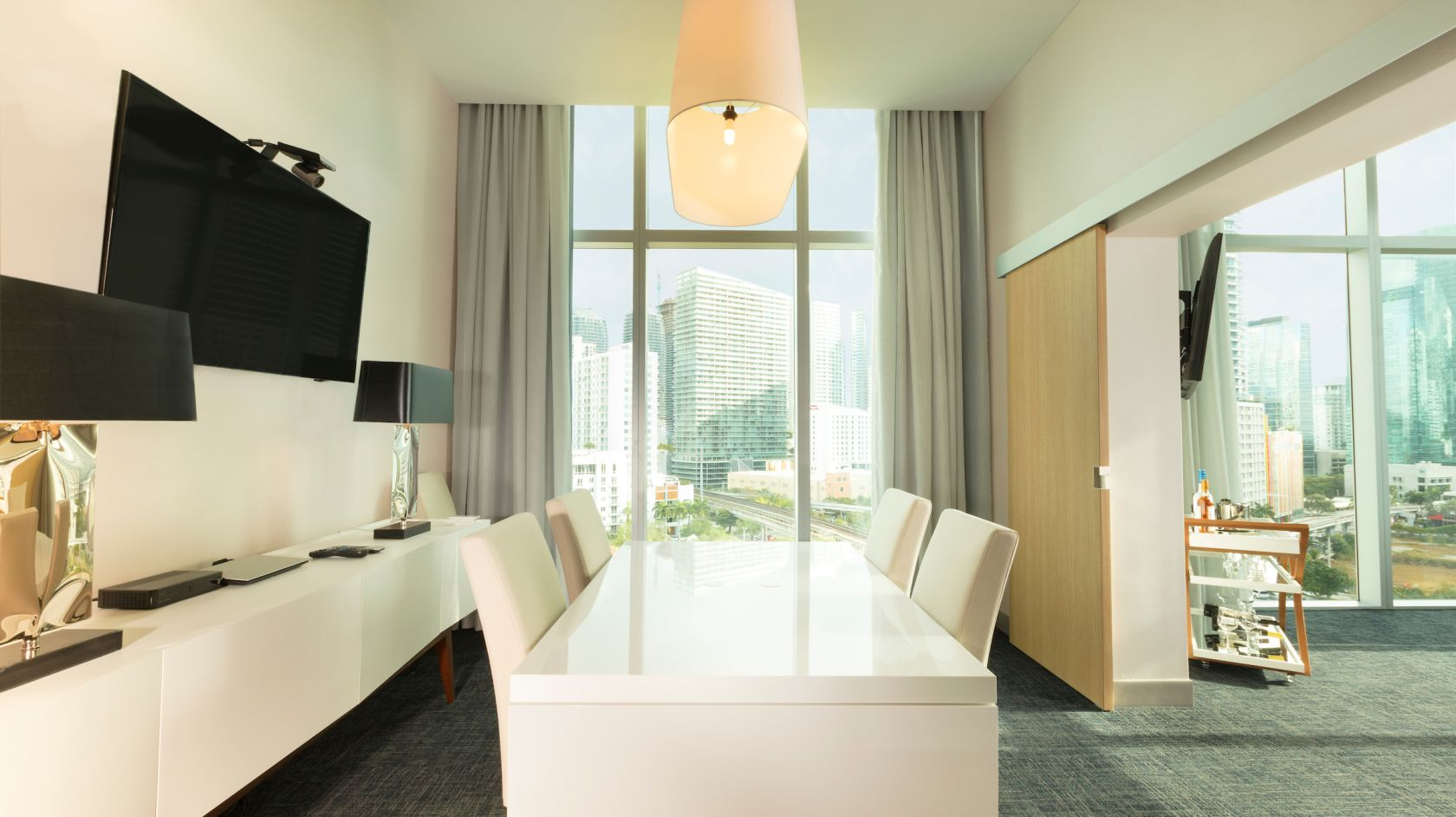Meeting room at Atton Brickell Miami with city views
