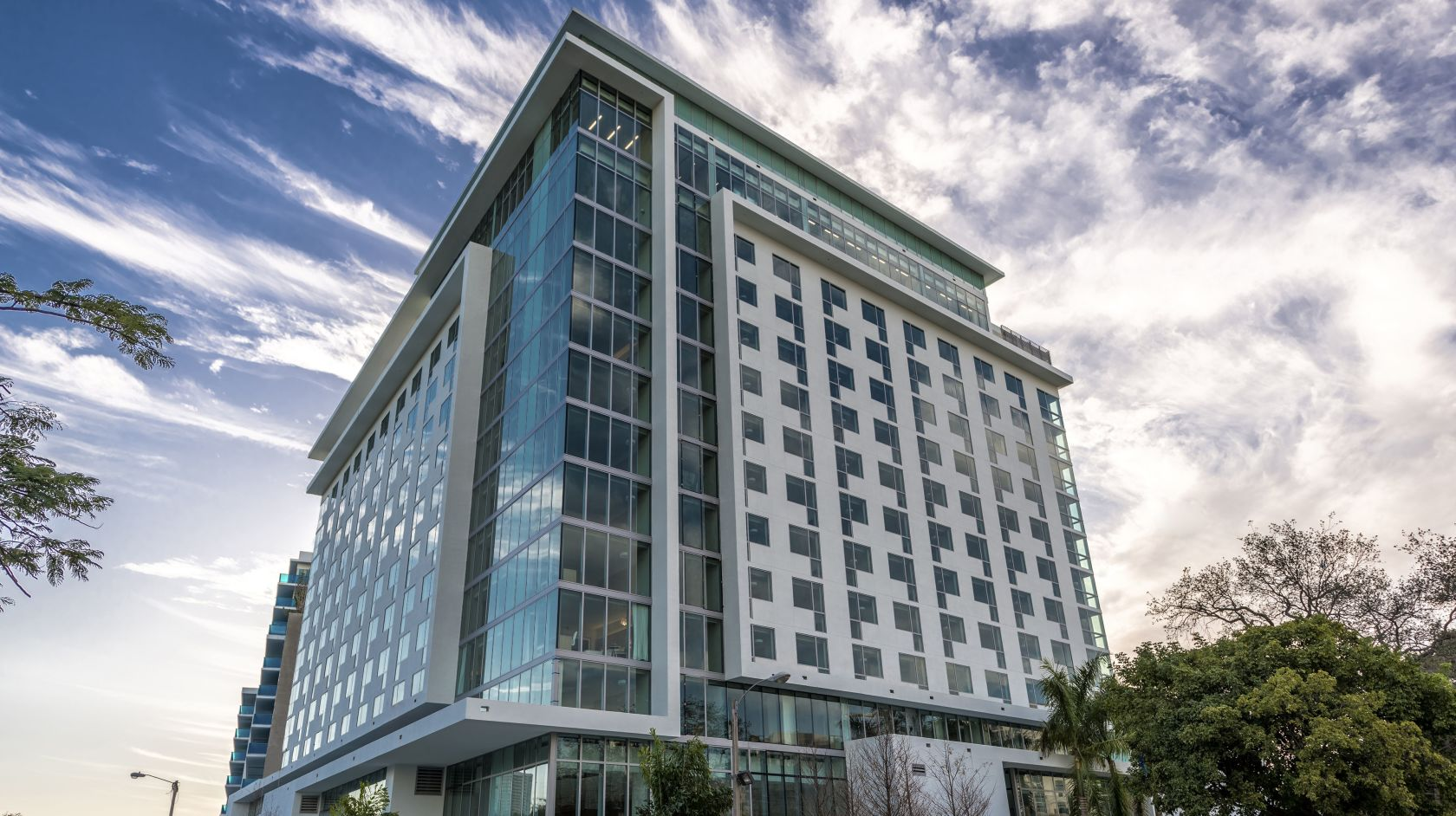 Daytime exterior view of Novotel Miami Brickell hotel