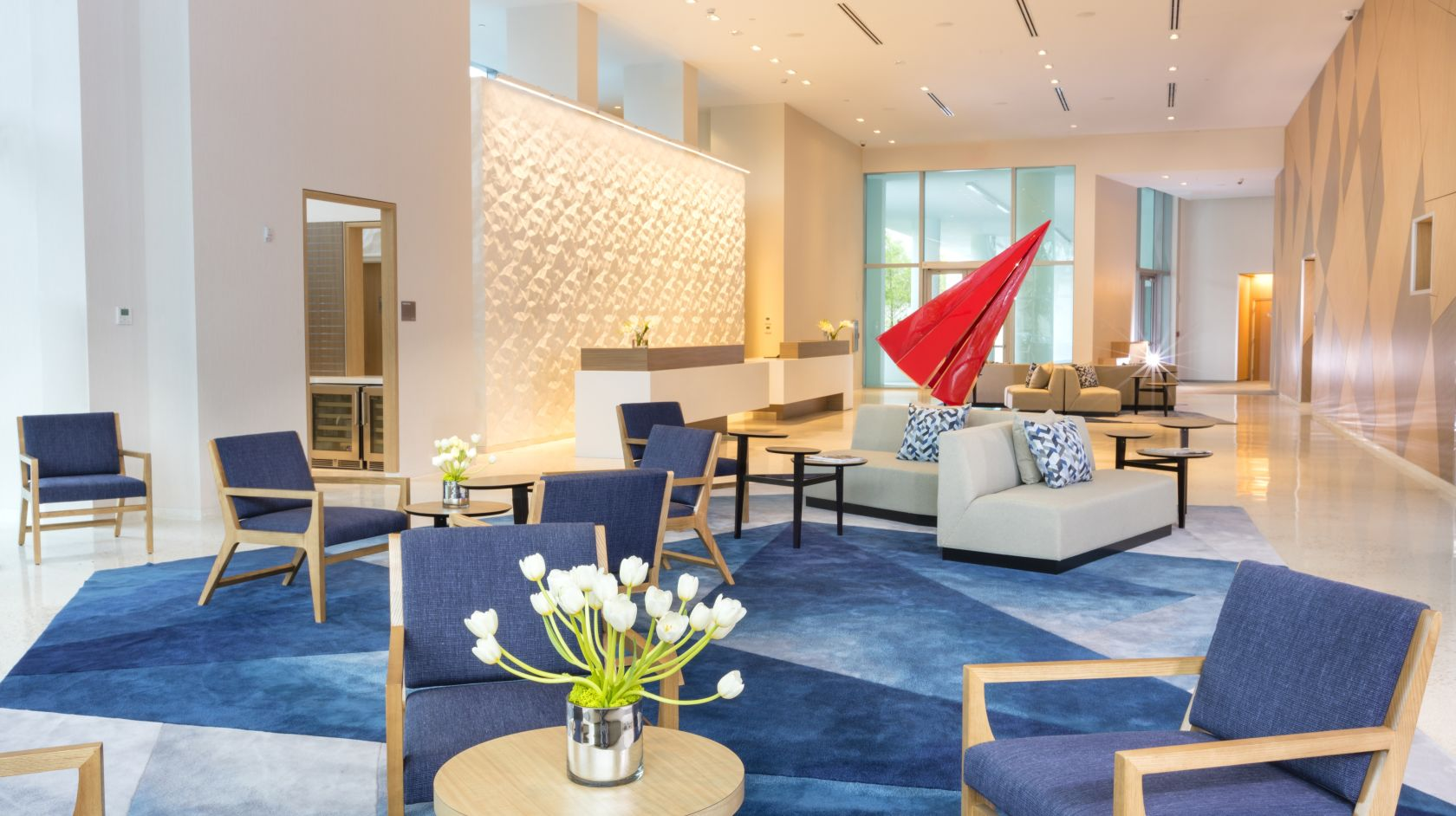 lobby area at Novotel Miami Brickell