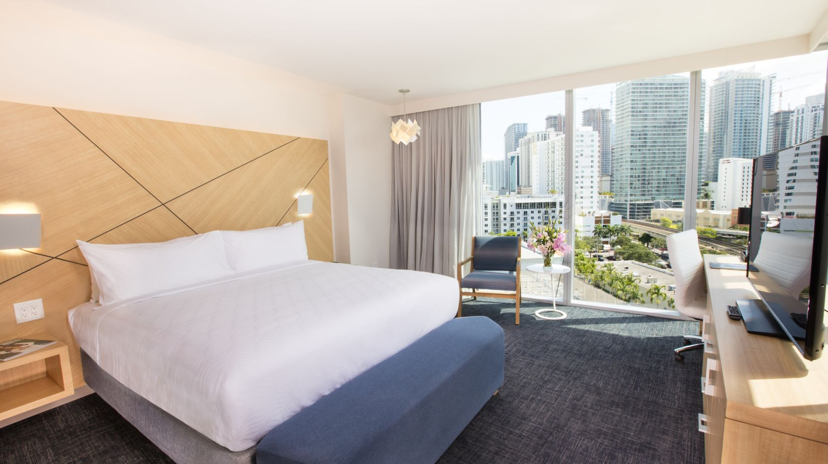 Novotel Miami Brickell executive suite with downtown views of the city