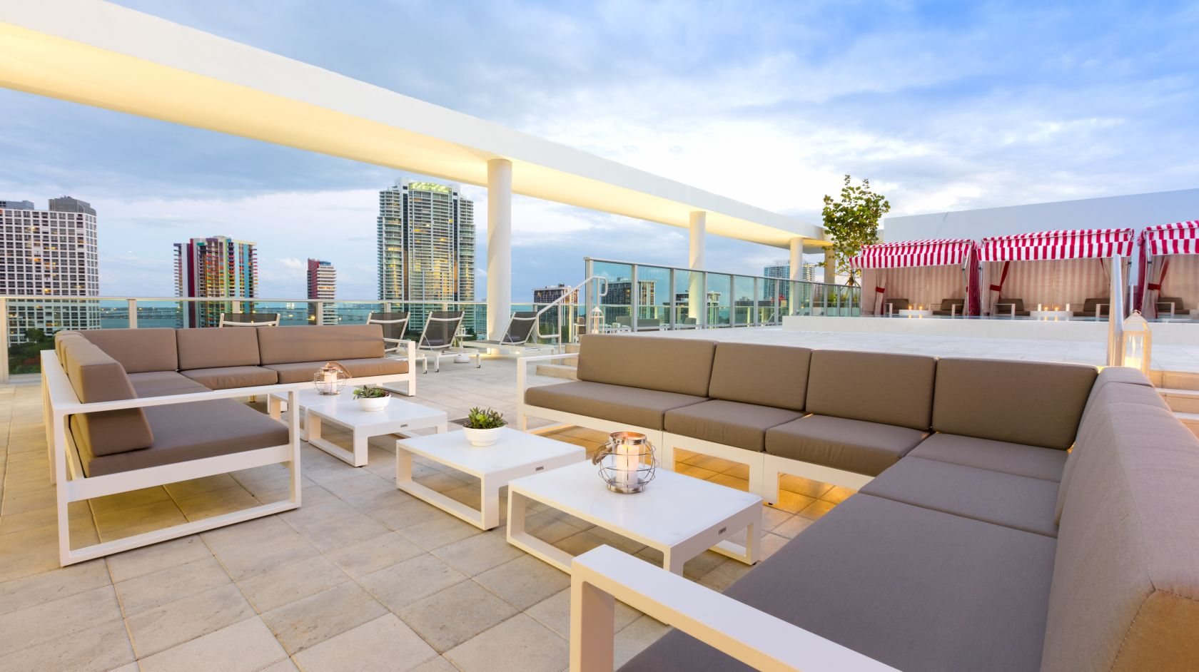 lounge at our rooftop at Novotel Miami Brickell hotel